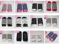 Wholesale Wholesale Invisible Ankle Socks Women - Invisible socks IF YOU CAN READ THIS 1pair=2pcs Bring Me a Glass of Wine Beer socks winter socks men women unisex M105