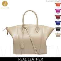 Wholesale A4 Shoulder Bags - Wholesale-GENUINE REAL LEATHER LOCK SHOULDER BAG - Women's New Fashion Famous Brand A4 Size Work Large Big Boston Bowler Tote Bag
