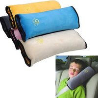 Wholesale Baby Car Seat Safety Straps - Freeshipping Baby Children Safety Strap Car Seat Belts Pillow Shoulder Protection 5 Colors Kimisohand