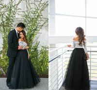 Wholesale Diy Women Summer Fashions - Floor Length Black Tulle Skirts For Women High Waisted Fluffy Spring Autumn Long Skirts DIY Fashion Formal Skirts