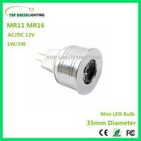 2 x LED MR11 35mm MR16 MR11 LED 12V Bulb Mini LED Lampadina 1W 3W GU4 MR11 Spot Lamp