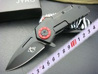 cuchillo de tiro al por mayor-SHOOTEY DA17 cuchillo plegable de bolsillo, hoja de acero 440 56HRC Cuchillo de supervivencia para acampar al aire libre con mango de aluminio de aviación