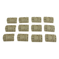 Wholesale Picatinny Rubber - Funpowerland High quality Tan Color 12pcs PACK Tactical W Picatinny Rubber Handguard Quad Rail Protect Covers Tan Hunting Free Shipping