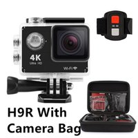 Wholesale wifi record - Original 4K Eken H9R Action Camera With WiFi 2.4G Remote Control 2 Inch 170 Wide 12MP Sport Cam With Camera Bag Waterproof Shockproof Record