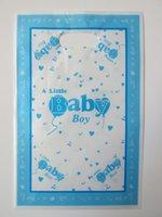 Wholesale Baby B Bag - baby boy B theme printing plastic hand length handle loot lolly bag,shopping gift bag 30pcs