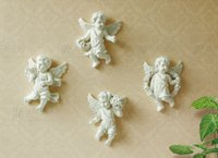 Wholesale Room Murals - European-style Three-dimensional Resin Angel Pendant Mural Living Room Hallway Wall Decorations Wall Hanging Creative Backdrop