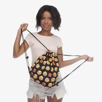 Wholesale Wall Cloth Pocket - Oxford Cloth Bundle Pocket Creative Emoji Storage Drawstring Bag For Outdoor Portable Both Shoulders Backpacks 8 5gl C R