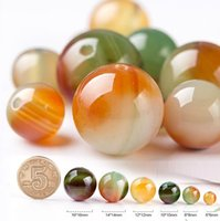 Wholesale Natural Stone Jewelry Round Beads - 20pcs lot Free Shipping Agate beads loose peacock pattern waist Agate Jade Natural Stone DIY Bracelet Jewelry birthday gift