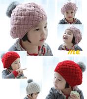Wholesale Knitted Girls Cloche - cloche hat beanie kids winter hats Boy girl SnapBack Caps hats fashion baby snapbacks Wool knit 67