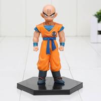 Wholesale Z Scale - 11cm Anime Dragon Ball Z Krillin Action Figure 1 8 scale painted figure Kuririn Doll PVC ACGN figure toys