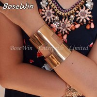 Wholesale Traditional Wedding Dresses Designs - 2015 Unique Design Clothes Jewelry Fashion Gold & Silver Alloy Opened Graceful Cuff Bangles Bracelets For Women Dress BL167