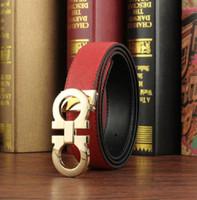 Wholesale Men Casual Belts Best Brands - Best quality Designer Brand Name Fashion Mens Business Waist Belts Buckle Genuine Leather belts For Men 105-130cm 3.3CM Width