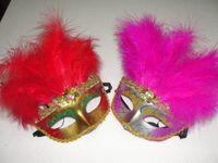 vestido de novia de venecia al por mayor-Mujeres Sexy Venecia máscara de belleza 11 villi de la raíz del traje de fiesta máscara de la boda vestido de máscara 60 unids / lote