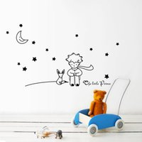 Stars Moon Il piccolo principe Fox Graphic Wall Stickers Bambini Fiaba Stickers murali per camera dei bambini nursery room decor Poster