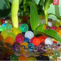 Wholesale Eco Bio - New 10 Bags Crystal Mud Soil Water Beads Bio Gel Ball For Flower Weeding Deraction