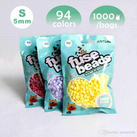 Wholesale Perler Beads Mini - 5mm A bag 1000pcs hama beads artkal beads perler beads highgrade Flexible Soft mini perler beads DIY educational toys B128