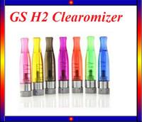 Wholesale Ego C4 - 10PCS Sale!GS H2 Atomizer GS-H2 Detachable Clearomizer No Wick Replace CE4 Atomizer ego atomizer For Ego-t Battery VS C4 CE5 atomizer