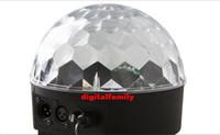 luces de dj gratis al por mayor-LED del canal DMX512 Control Digital LED RGB Crystal Magic Ball Efecto de luz DMX Disco DJ de fiesta en el escenario Iluminación Envío gratis