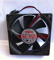 Wholesale dual ball bearing - Wholesale: original TD8020LS 12V 8020 0.08A 2 wire refrigerator fan