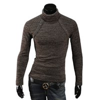 Wholesale Turtleneck Cardigan - S5Q Mens Casual Slim Sweater Fit Pullover Cardigan Coat Turtleneck Knitwear Tops AAAEKZ