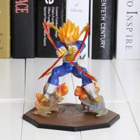 batalha super bola dragão venda por atacado-Anime Dragon Ball Z Vegeta Super Saiyan Estado Batalha Final Flash PVC Action Figure Collectible Modelo Toy 15 CM