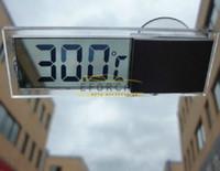 temperatura del termómetro digital del coche al por mayor-LCD termómetro digital electrónico del coche monitor de temperatura medidor ventosa Nuevo Buena calidad Freeship Venta caliente