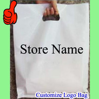 """Wholesale Hand Bag Store - Custom Plastic Bags can print logo store name 40cmx50cm (15.75""""x20"""") Apparel Food Grocery clothes Large Handing shopping pouches"""