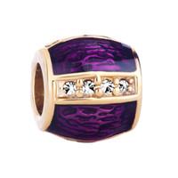 perlas de huevo faberge al por mayor-Joyería de moda Huevo de Faberge Mano Cristal Esmaltado Metal Slider Charms Espaciador de cuentas europea Se adapta a Pandora Pulsera