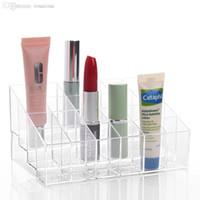 Wholesale Lipstick Display Racks - Wholesale-Free shipping 24 the booth lipstick display shelf Lip gloss frame Make-up organizer show eyebrow pencil lipstick display rack