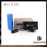 Wholesale E Shock - Dovpo Mini E-LVT 35W Box Mod Mini ELVT E-cigarette Mods Water Resistant Shock Dust Proof Fit Atlantis Kanger Subtank Atomizer 100% Original