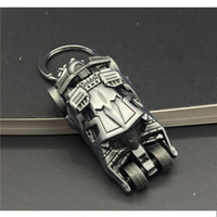 J Store Movie Il Cavaliere Oscuro Batman Car Modello 3D Batmobile Portachiavi Batman Superman Portachiavi per Donna Uomo Gioielli llaveros