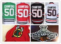 Wholesale W Ice - Factory Outlet, Mens Stitched #50 Corey Crawford Chicago Blackhawks Jersey W 2015 Stanley Cup Champion Patch Ice Hockey Jersey