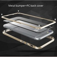 Wholesale Aluminum Bumper Frame Case - Cover For Iphone 6 S Plus Luxury Metal Bumper For Apple Iphone 6s Plus 6plus Phone Cases Aluminum Frame Accessories Casing Capa