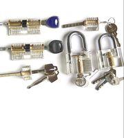 Wholesale Kaba Locks - HOT! Free Shipping! 6different transparent practice padlock include wafe lock,2AB kaba lock , padlock, one word lock,and cross lock