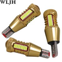 Wholesale H7 Led Canbus - WLJH Car LED Light W16W Led T15 921 912 4014 SMD + R3 Chips Len Reverse Light Backup Lamp Bulbs Auto External Lights Canbus