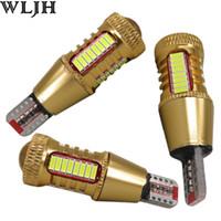Wholesale 921 Auto Bulb - WLJH Car LED Light W16W Led T15 921 912 4014 SMD + R3 Chips Len Reverse Light Backup Lamp Bulbs Auto External Lights Canbus