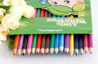 Wholesale Drawing Wooden Box - PrettyBaby wooden colored pencils for coloring books secret garden Crayon Painting Pen Drawing Pencil Painting Supplies 12 colors in stock
