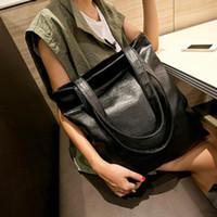 Wholesale Handbag Punk - Brand New Women's Black Leather Handbag Big Shoulder Bag Punk Messenger Clutch Bags Free Shipping[CA05279*1]