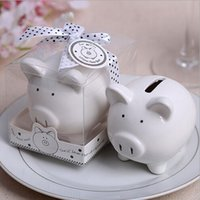 Wholesale House Piggy Bank - Wedding gift married supplies gift pig piggy bank New house decoration Wedding Favors Party Storage Tanks