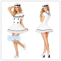 Wholesale Sexy Navy Lingerie - Sexy Lingerie Club Wear Navy Seaman Trade Play A Role Playing Game Uniforms J214