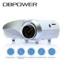 Wholesale Led Projecteur Lcd - DBPOWER RD-802 Projectors Mini LED   LCD Proyector Home Theater Multimedia Cinema Projetor VGA USB AV Proiettore HDMI Projecteur