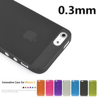 i phone protector case 2018 - 1 piece Case Cover Protector for Apple i Phone iphone 5 5s 0.3mm Ultra Thin Slim Matte camera hollow not show fingerprint retail