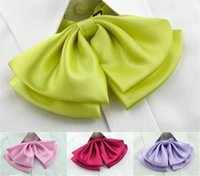 Wholesale Tie Dye Clothes Wholesale - shirt bow tie wear work clothes hotel bank shirt collar solid color flower accessories