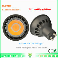 spotlight lightbulbs - gu10 led spotlight w led V V cob high quality led bulbs shell black spotlight warm white white lightbulbs