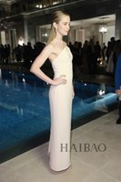 Wholesale Emily Blunt Dresses - Red carpet dresses The 68th Cannes Film Celebrity Emily Blunt simple Halter V neck Ivory Evening Dresses gowns