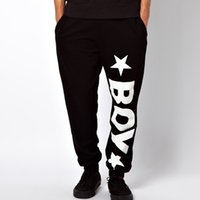 Wholesale London Pants - Cotton Autumn Casual Hip Hop Sweatpants Men Elastic Cuff Biker Joggers Black Sport Pants Boy London Survetement Jogging Homme