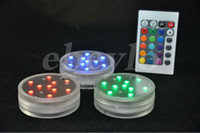 Wholesale Led Cristmas Lights - Remote Controlled Submersible LED Light Battery Operated Remote Controlled Submersible LED Light Wedding Cristmas Party Decorations