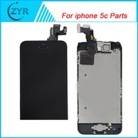 Wholesale Botton Home Iphone - Wholesale-Good Quality 100% Tested For iPhone 5C LCD Screen Display With home botton Digitizer replacement Free Shipping#11000322