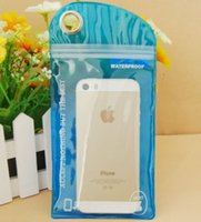 Wholesale Iphone5 Package - Zipper Protector Retail Package Color Waterproof Pouch Cover Plastic Bag For IPhone5 5S 5C 4 Samsung S5 Mobile Cell Phone Case 3000pcs lot