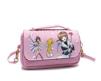 Wholesale Sakura Cards - New Arrival Anime Card Captor Sakura Hatsune Miku Touhou Colorful Travel Cosmetic Case Bag Double Zipper Women Fashion Makeup Bag
